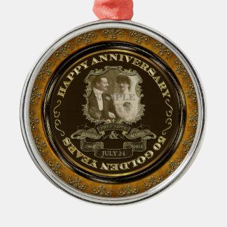 Vintage 50th Anniversary ID195 Metal Ornament