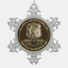 Vintage 50th Anniversary Id195 Snowflake Pewter Christmas Ornament at Zazzle