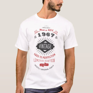 Vintage 50th Birthday Born in 1967 Made in USA T-Shirt