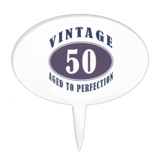 Vintage 50th Birthday Gifts For Men Cake Topper