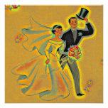 Vintage 50th Golden Anniversary Invitations Invite