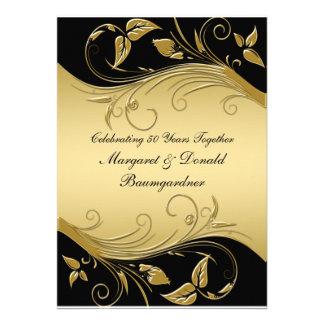 Vintage 50th Wedding Anniversary Invitation Custom Invites