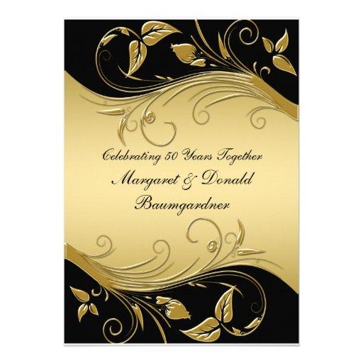 Vintage 50th Wedding Anniversary Invitation