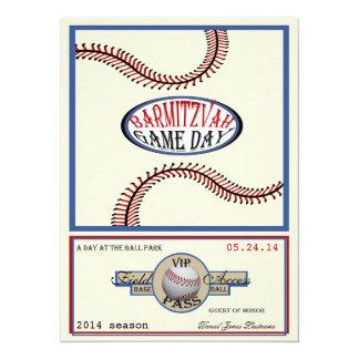 Vintage 5,5 x 7,5 retros barra Mitzvah del béisbol Invitación