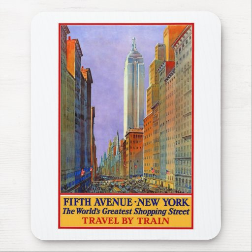Vintage, 5th Ave New York Mouse Pad