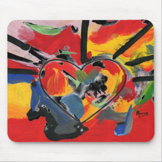 "Vintage 60s colorful heart"" mousepad"