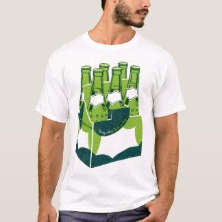 Vintage 60s Green Soda Pop Bottles 6-Pack T-Shirt