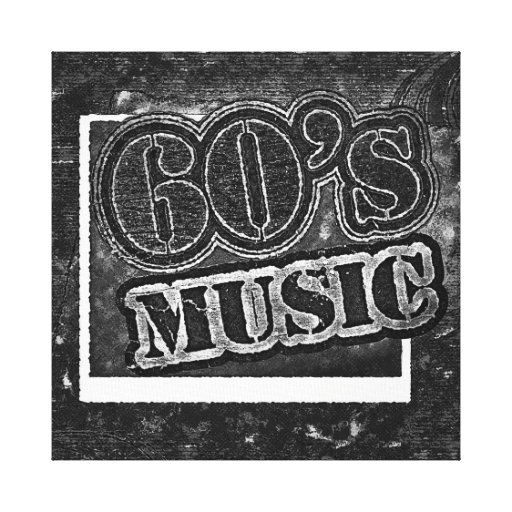 Vintage 60's Music - Wrapped Canvas