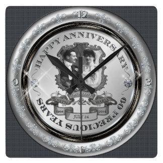 Vintage 60th Anniversary Wall Clocks