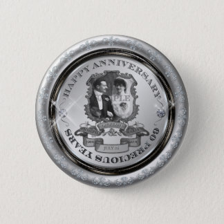 Vintage 60th Anniversary ID195 Button