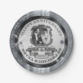 7 Inch 60th Anniversary Paper Plates Zazzle