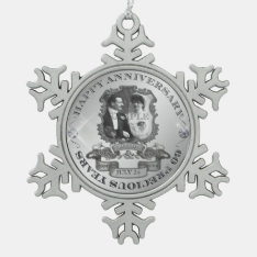 Vintage 60th Anniversary Id195 Snowflake Pewter Christmas Ornament at Zazzle