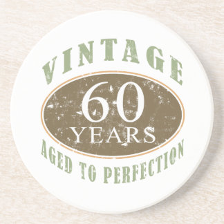 Vintage 60th Birthday Coaster