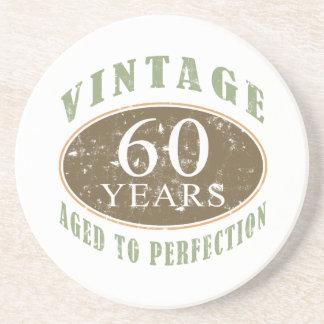 Vintage 60th Birthday Coaster