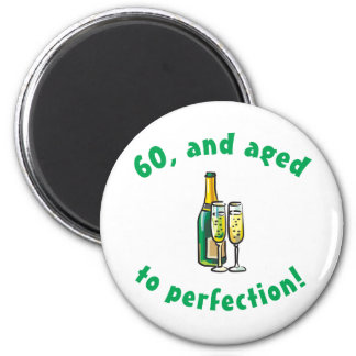 Vintage 60th Birthday Gift Magnet