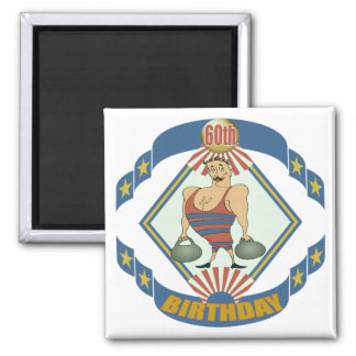 Vintage 60th Birthday Gifts 2 Inch Square Magnet