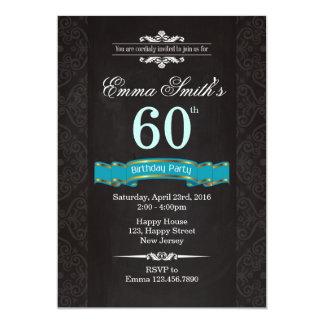 Vintage 60th Birthday Invitation