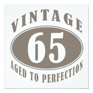 Vintage 65th Birthday Gifts Card