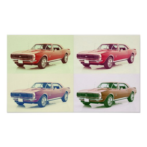 Vintage 67 Camaro Art Poster Zazzle Com