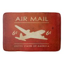 Vintage 6 cent Airmail Postage Bathroom Mat
