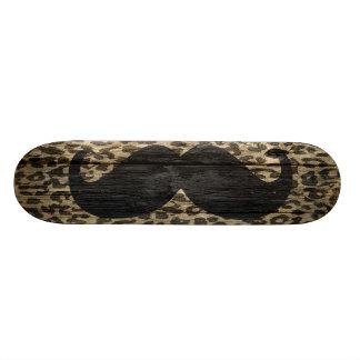 Vintage #6 del leopardo del bigote patines