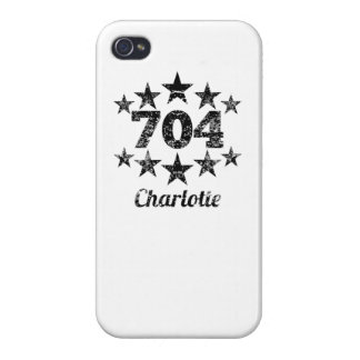 Vintage 704 Charlotte Cases For iPhone 4