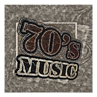 Vintage 70's Music - Poster