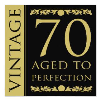 Vintage 70th Birthday Party Invitation