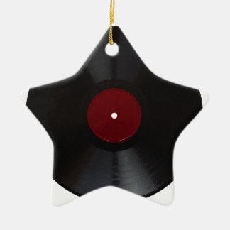 Vintage 78 rpm record transparent PNG Ceramic Ornament