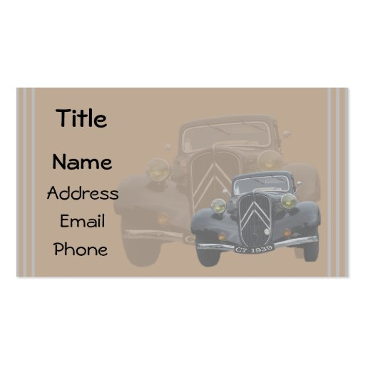 vintage 7C template Double-Sided Standard Business Cards (Pack Of 100)