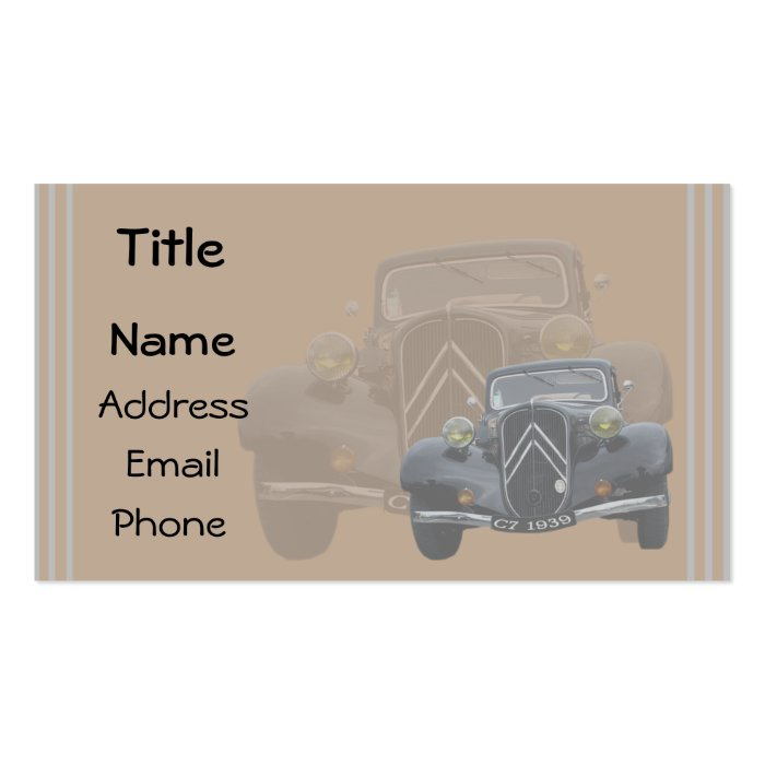 vintage 7C template Business Card