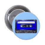 Vintage 80's Blue Label Cassette Button