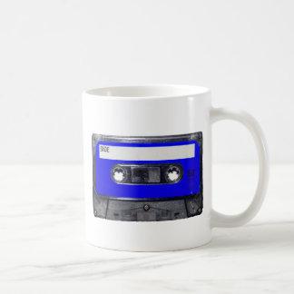 Vintage 80's Blue Label Cassette Coffee Mug
