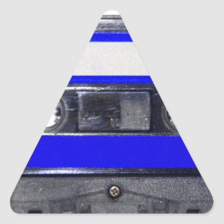 Vintage 80's Blue Label Cassette Triangle Sticker
