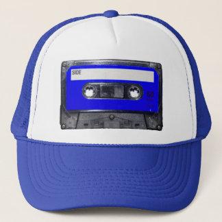 Vintage 80's Blue Label Cassette Trucker Hat