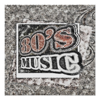 Vintage 80's Music - Poster