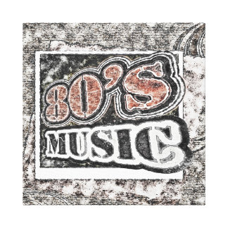 Vintage 80's Music - Wrapped Canvas