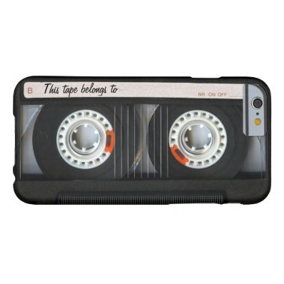 Vintage 80s Retro Music Cassette Tape Customizable Barely There iPhone 6 Case