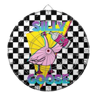Vintage 80s Silly Goose Checkerboard Dartboards