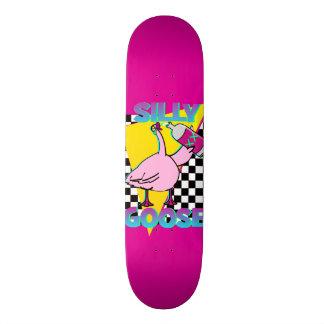 Vintage 80s Silly Goose Pink Skateboard deck