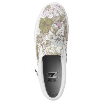 vintage 80s wall flower print shoes