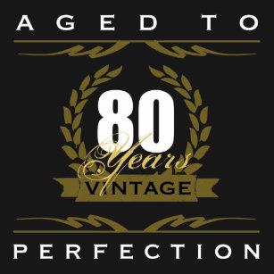 Funny 80th Birthday T Shirts