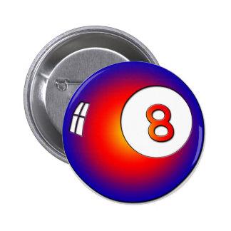 Vintage 8 Ball 2 Inch Round Button