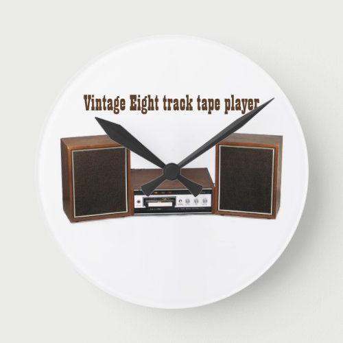 Vintage 8 track tape player Acrylic Wall Clock