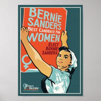 """Vintage 8"""" x 11.25"""" Poster Women 4 Bernie Sanders"""
