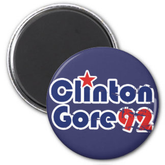 Vintage 90s Clinton Gore 1992 2 Inch Round Magnet