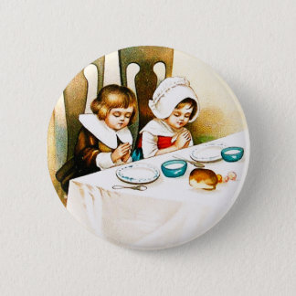 Vintage A Blessed Thanksgiving Button