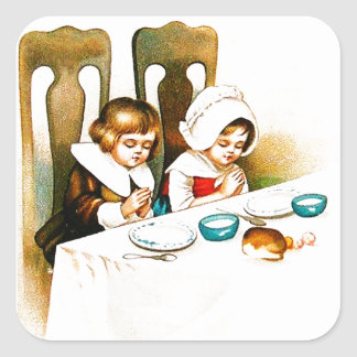 Vintage A Blessed Thanksgiving Sticker