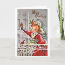 Vintage - A Christmas Visitor, Card