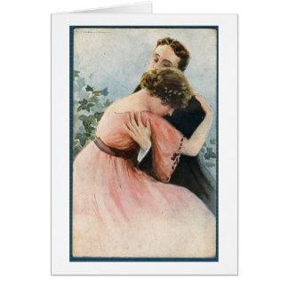 Vintage - A Couple's Embrace, Card